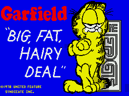 Garfield: Big, Fat, Hairy Deal ZX Spectrum Loading screen