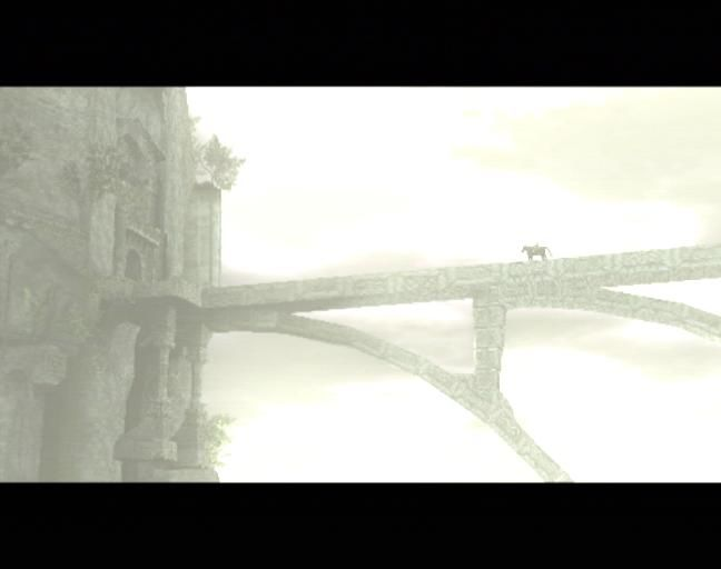 Shadow of the Colossus PlayStation 2 Our hero is about to enter a Shrine