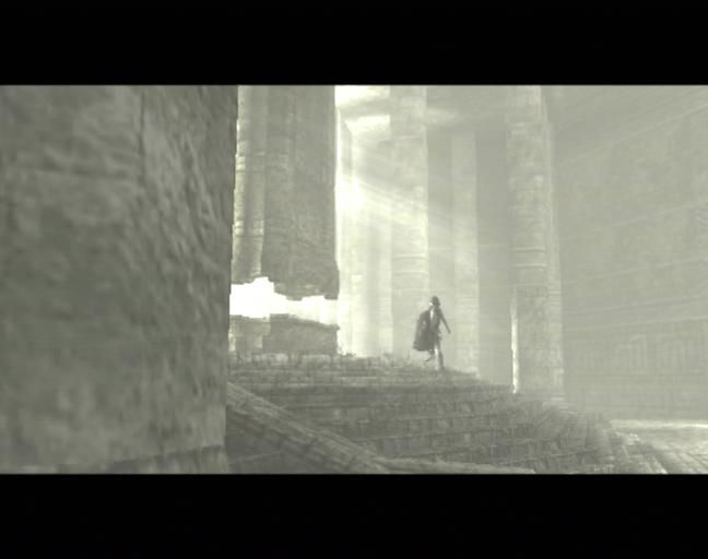 Shadow of the Colossus PlayStation 2 Wander carries the body of a girl
