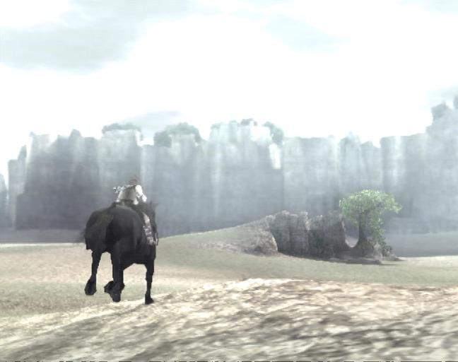 Shadow of the Colossus PlayStation 2 Game's protagonist on his horse, Agro
