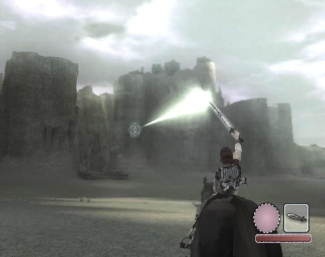 Shadow of the Colossus PlayStation 2 Reflect the beams of light to find the direction of your next target