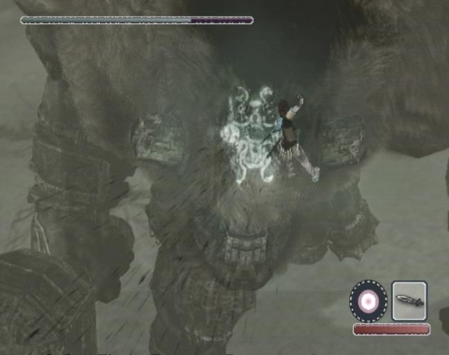 Shadow of the Colossus PlayStation 2 Stab the sigil to defeat it