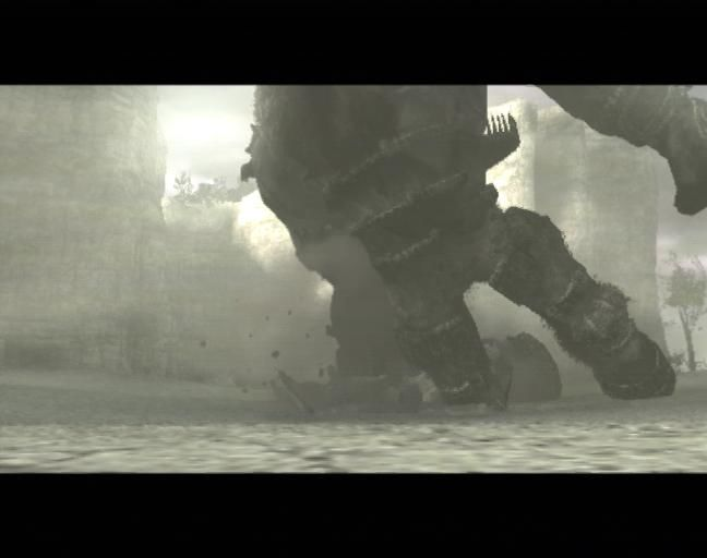 Shadow of the Colossus PlayStation 2 First colossus falls down
