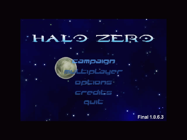 Halo Zero Windows Main game screen