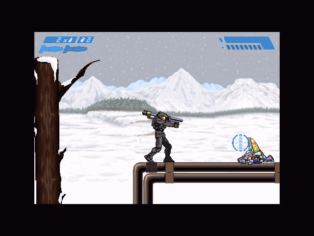 Halo Zero Windows In the snow, carrying a rocket launcher.