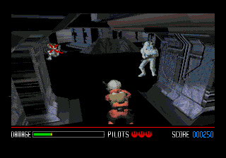 Star Wars: Rebel Assault SEGA CD On-foot levels control the same, but give you a shot at some stormtroopers.