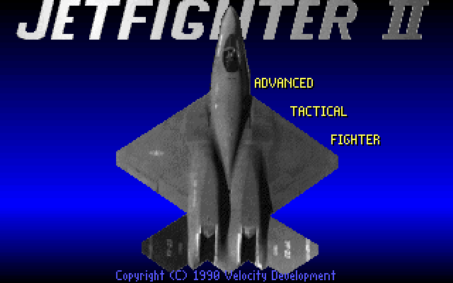 JetFighter II: Advanced Tactical Fighter DOS Title screen
