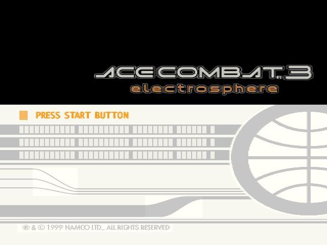 Ace Combat 3: Electrosphere PlayStation Title screen