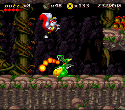Mr. Nutz SNES These dragons can't be killed