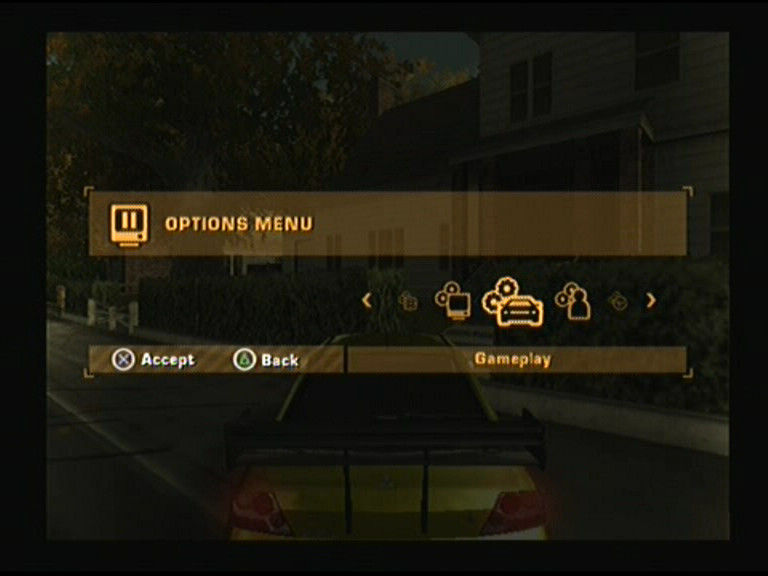 Need for Speed: Most Wanted PlayStation 2 Options Menu