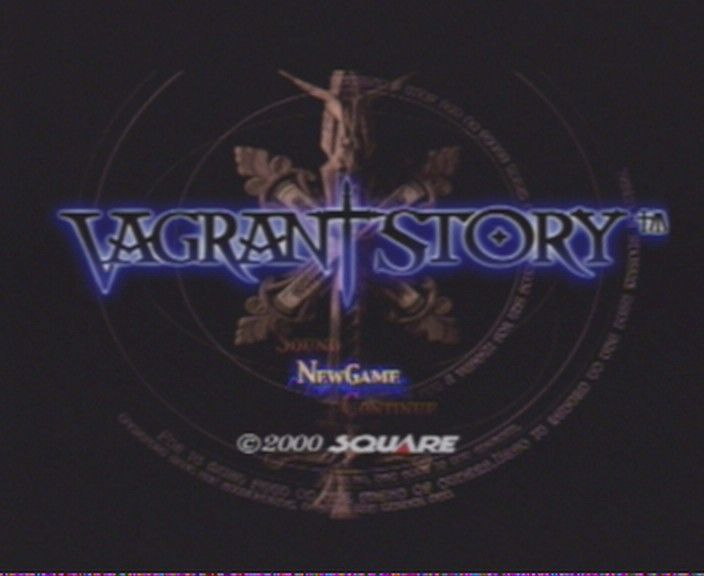 Vagrant Story PlayStation Title screen / Main menu
