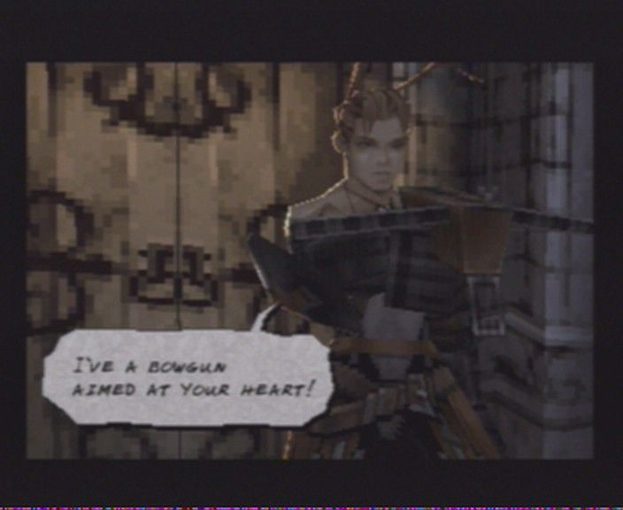 Vagrant Story PlayStation Cutscenes in the game have those comic book-like dialogue bubbles
