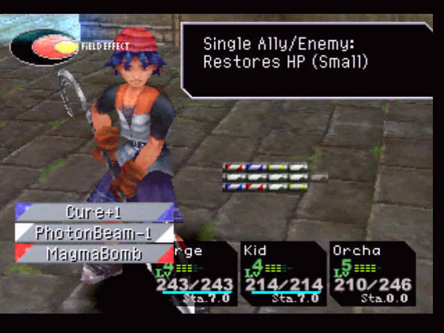 Chrono Cross PlayStation Choosing a spell