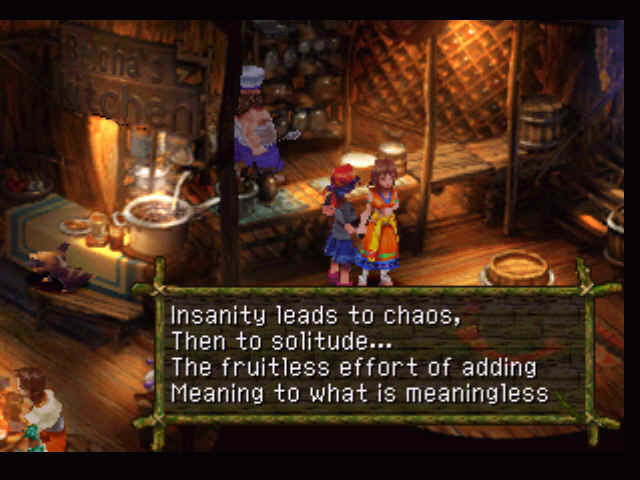 Chrono Cross PlayStation Boy, aren't we philosophical today!