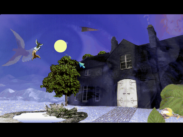 Blue Ice [PC] 238827-blue-ice-dos-screenshot-outside-the-house