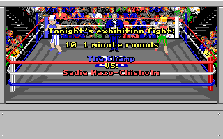 4-D Boxing Amiga A fight is introduced