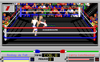 4-D Boxing Amiga You got him down but he's gonna get up again