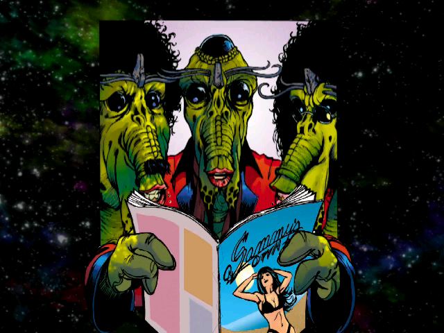 Panty Raider: From Here to Immaturity Windows Comic-book intro: the three alien dudes get hot and bothered by underwear catalogues.