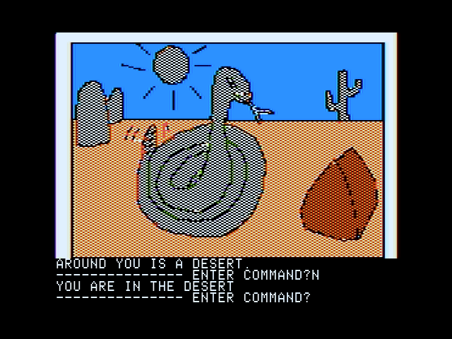 Hi-Res Adventure #2: The Wizard and the Princess Apple II Watch out for snakes!