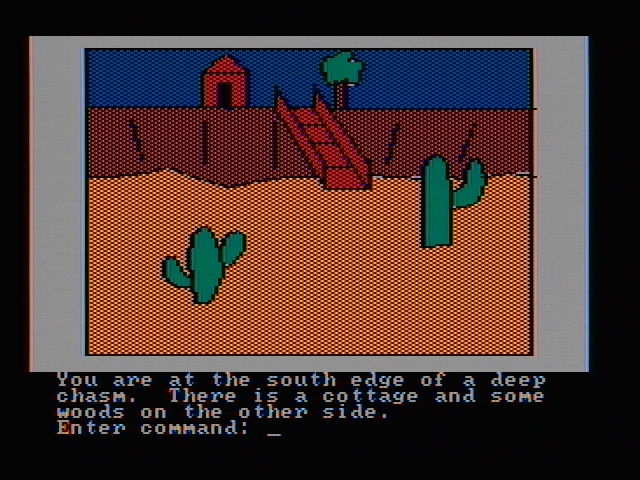 Hi-Res Adventure #2: The Wizard and the Princess PC Booter There is a chasm here (CGA with composite monitor)