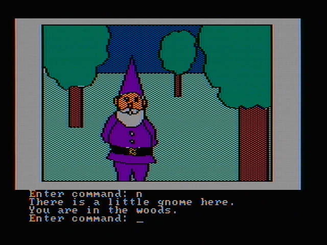 Hi-Res Adventure #2: The Wizard and the Princess PC Booter A little gnome is here (CGA with composite monitor)