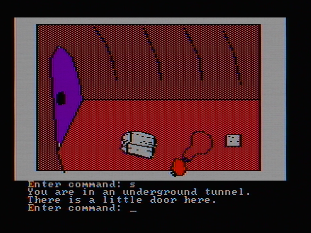 Hi-Res Adventure #2: The Wizard and the Princess PC Booter Some stuff in a cave (CGA with composite monitor)