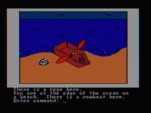 Hi-Res Adventure #2: The Wizard and the Princess PC Booter Found a boat (CGA with composite monitor)