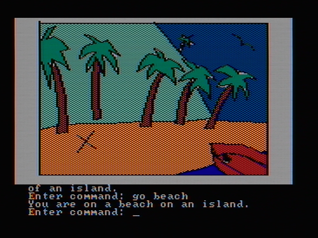 Hi-Res Adventure #2: The Wizard and the Princess PC Booter Arrived on an island (CGA with composite monitor)