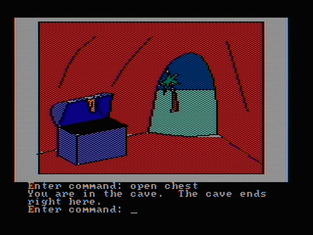Hi-Res Adventure #2: The Wizard and the Princess PC Booter Found treasure in a cave (CGA with composite monitor)