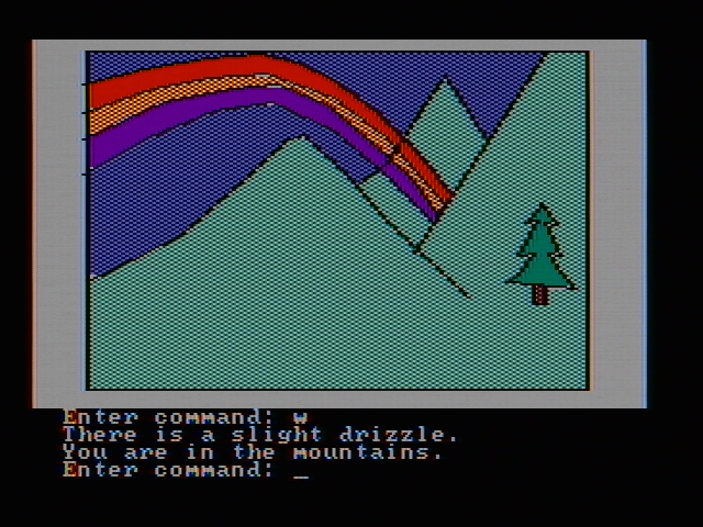 Hi-Res Adventure #2: The Wizard and the Princess PC Booter Follow the rainbow! (CGA with composite monitor)