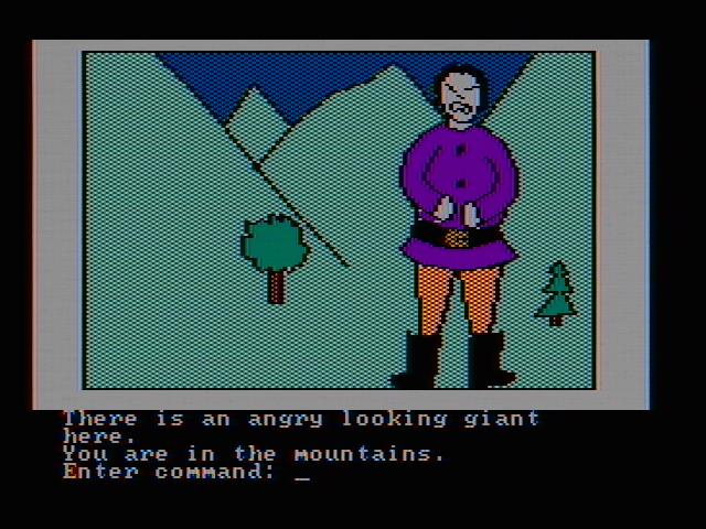Hi-Res Adventure #2: The Wizard and the Princess PC Booter There is an angry looking giant here (CGA with composite monitor)