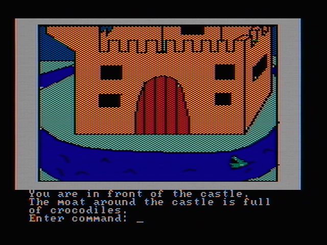 Hi-Res Adventure #2: The Wizard and the Princess PC Booter How can I get into this castle? (CGA with composite monitor)