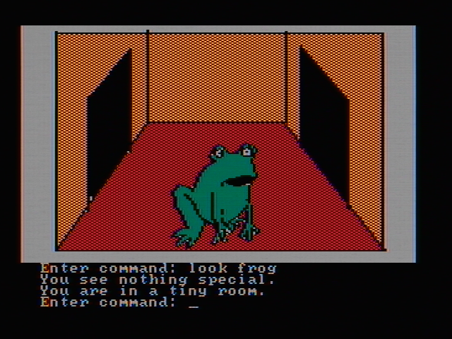Hi-Res Adventure #2: The Wizard and the Princess PC Booter Hmm, nothing special about this giant frog (CGA with composite monitor)