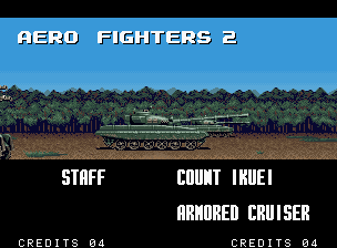 Aero Fighters 2 Neo Geo Intro - tanks