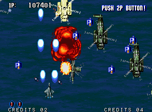 Aero Fighters 2 Neo Geo Bonus stage