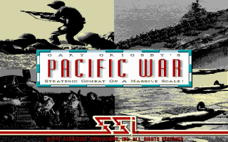 Gary Grigsby's Pacific War DOS Title screen