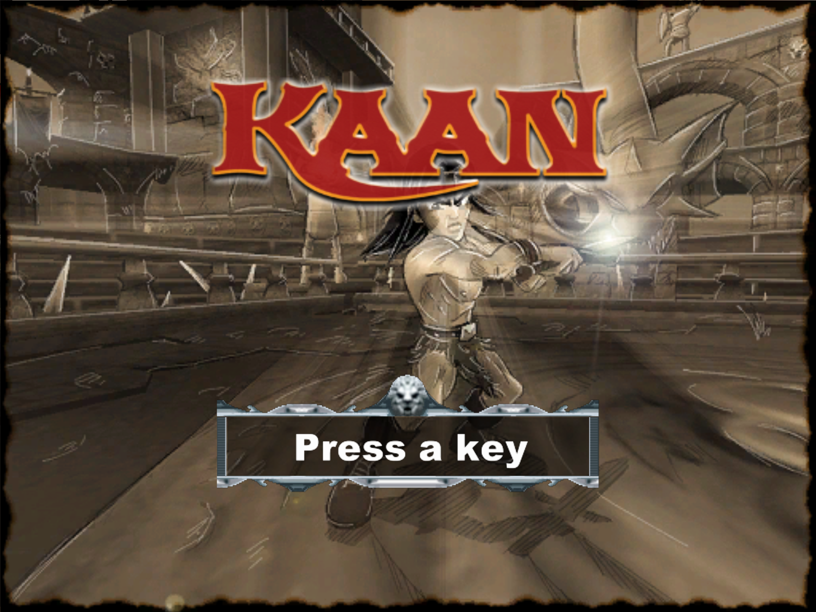 Kaan: Barbarian's Blade  Windows Title screen