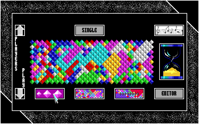 7 Colors Amiga Difficulty levels are set here - this the hardest...