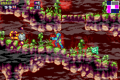 Metroid Fusion Game Boy Advance Samus must kill the creatures that are damaging the atmospheric stabilizers.