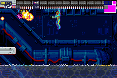 Metroid Fusion Game Boy Advance Samus has learned a few new moves. Don't fall into the electrified water!