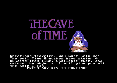 The Cave of Time Commodore 64 Beginning