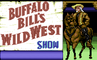 Buffalo Bill's Wild West Show Commodore 64 Loading screen