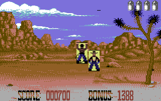 Buffalo Bill's Wild West Show Commodore 64 Try to hit as many bad guys as possible