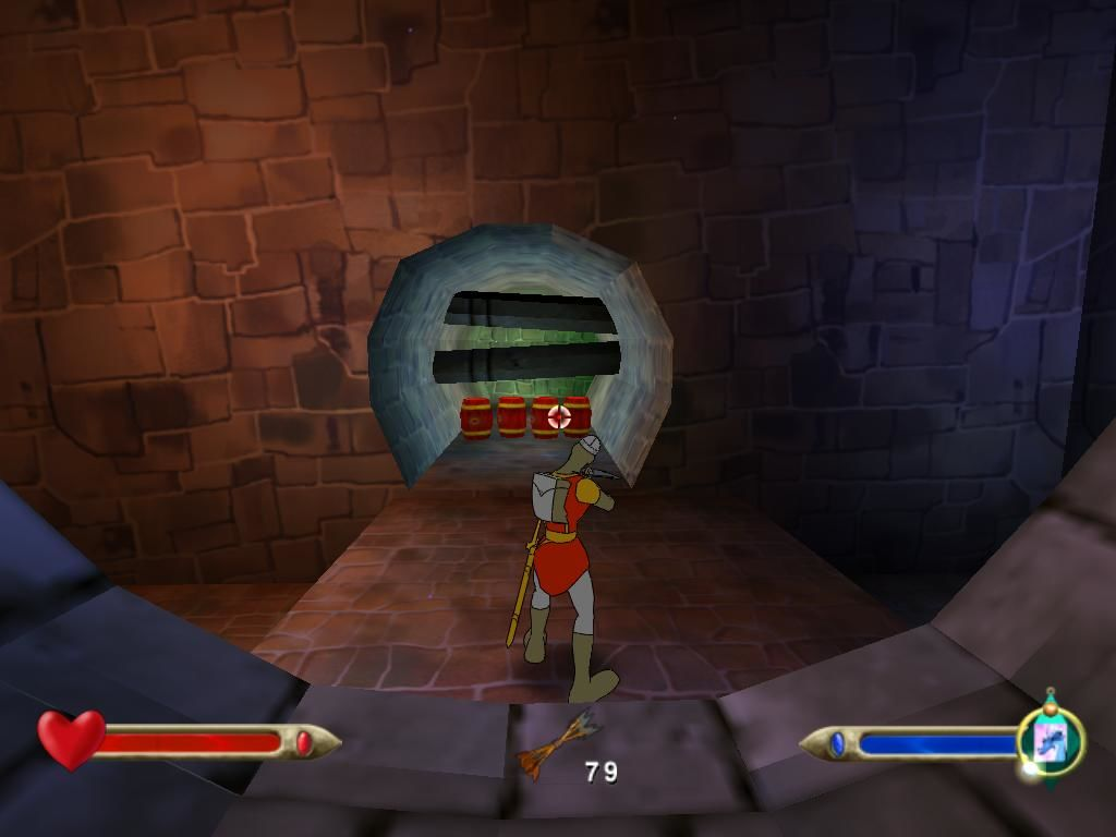 Dragon's Lair 3D: Return to the Lair Windows Blow those barrels!