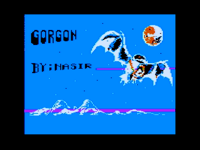 Gorgon Apple II Title screen