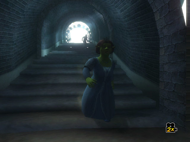 Shrek the Third Wii Fiona flees from Charming's thugs.