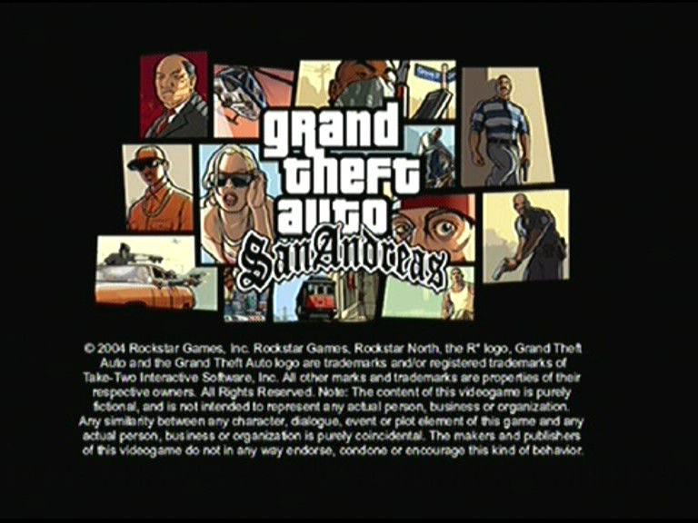 Grand Theft Auto: San Andreas PlayStation 2 Title Screen