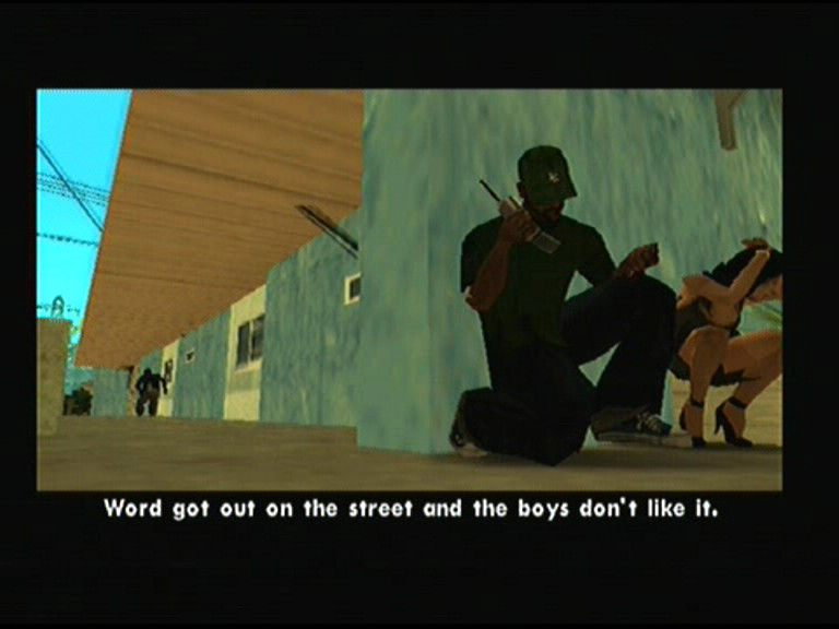 Grand Theft Auto: San Andreas PlayStation 2 Friend in trouble, got to help him quick