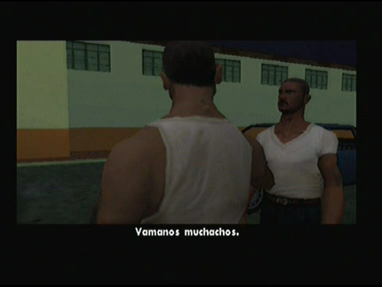 Grand Theft Auto: San Andreas PlayStation 2 Cinematics and character designs are improved little bit since Vice City