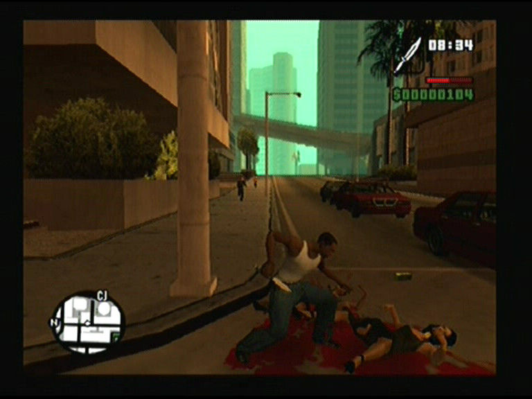 Grand Theft Auto: San Andreas PlayStation 2 It wasn't me, they accidentally dropped on my knife
